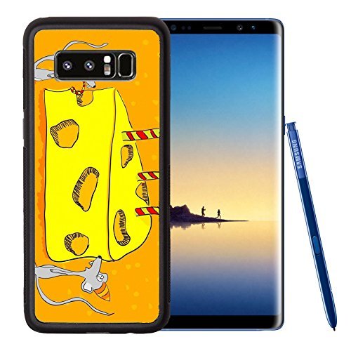 Liili Premium Samsung Galaxy Note8 Aluminum Backplate Bumper Snap Case Hand drawn greeting card funny mouses and cheesecake IMAGE ID 8712918 Hand Drawn Personalized Christmas Cards