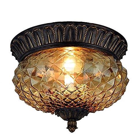 Braun Glas Ananas Schlafzimmer Deckenleuchte Lampe Vintage Balkon Korridor  Deckenleuchte Küche Badezimmer Deckenleuchte
