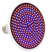 Zehui LED Plant Grow Light for Indoor Gardening Greenhouse Flowering Hydroponic E27 26W Growth Lamp Bulb Red/ Blue