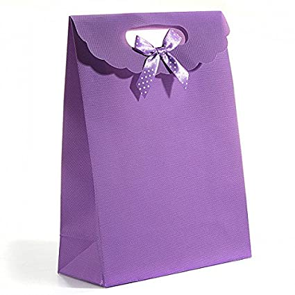 furnido 10pcs Party Candy bolsas de regalo con lazo y ...