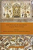The Psalms of Solomon: Language, History, Theology (Early Judaism and Its Literature)
