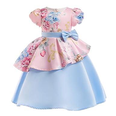 LADYLUCK Vestido Fiesta Niña De Princesa Falda Vestido De ...