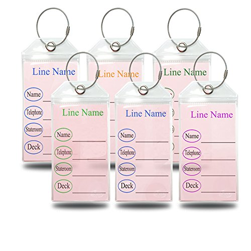 Cruise Luggage Tag Holders for CARNIVAL,P&O,PRINCESS,HOLLAND AMERICA,NCL & COSTA