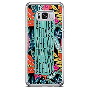 Samsung Galaxy S8 Transparent Edge Phone Case Colorful Phone Case Leaf Phone Case Better Things Ahead Samsung S8 Cover with See through edges