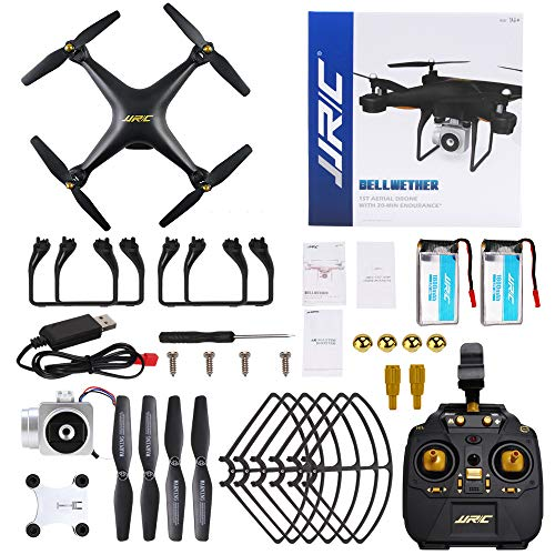 JJRC H68 RC Drone 40MINS Longer Flight Time Quadcopter with 720P Camera FPV  WiFi Helicopter with 2 Batteries(20mins + 20mins), Altitude Hold, Headless