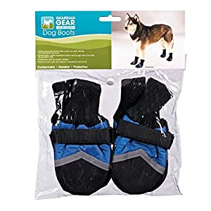 Guardian Gear Oxford Boots for Dogs, Medium, Blue
