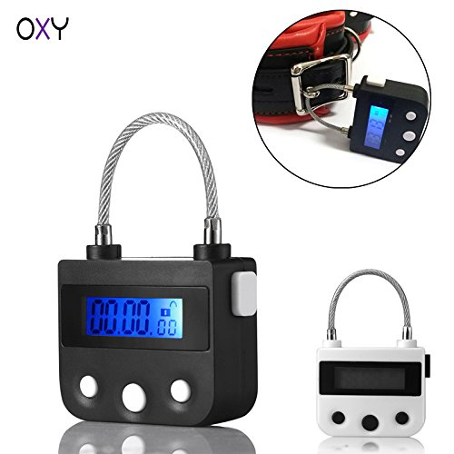 Multifunction Electronic Timer lock by Oxy - Lock it timely with no way out  - Ideal for Storage, Chastity, BDSM play, restraints, handcuff or gag