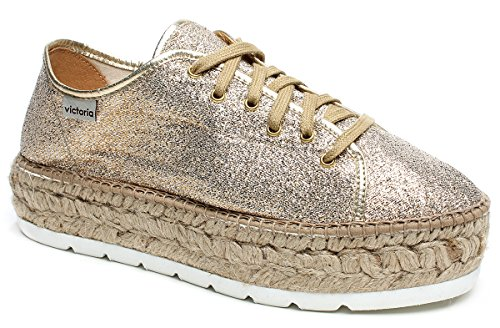 088100 Plateforme En Chaussures Gold Baskets Victoria Corde Gold Basses Avec ZIw60qxCv