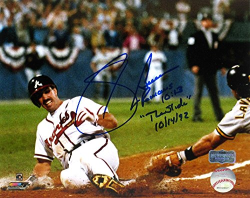 - Sid Bream Autographed/Signed Atlanta Braves Iconic 8x10 MLB Photo with