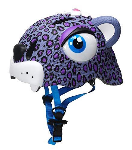 Zjoygoo Purple Leopard Kids Helmet 3-8 Years Toddler Helmet Sports Protective Gear Roller Hoverboard Bicycle BMX Bike Skateboard Adjustable Helmets for Kids Child Boys Girls Safety Helmet ()