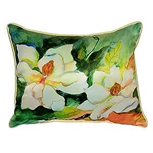 BETSY Drake Magnolia flores extra grande 20x 24de interior/al aire libre almohada