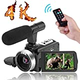 """4K Camcorder Video Camera,Vlogging Camera for YouTube 30MP Digital Camera 3.00"""" Touch Screen"""