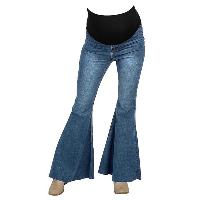 RISTHY Pantalones Acampanados Premamá Leggings Largos ...