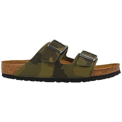 91b2a2f0d04f Birkenstock Mens Arizona Soft Footbed Birko-Flor Green Sandals 8 US