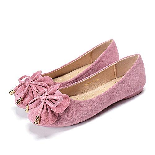 吐き出す費用大佐ピーズ靴、女性レジャーラウンドピース靴、フラットシューズ、甘いちょう結び靴