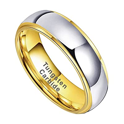 14k White Gold Band CLASSIC DOME  Polished  Comfort Fit  Men/'s Women/'s Wedding Ring  Solid Gold Simple Wedding Band