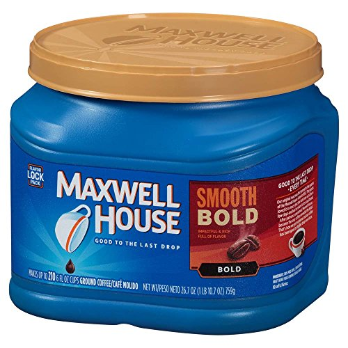 Maxwell House Smooth Bold Blend Ground Coffee, Bold Roast, 26.7 Ounce Canister