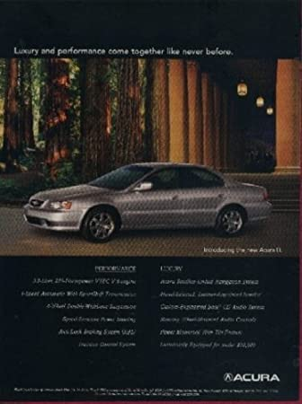 Amazon 1999 ACURA TL SEDAN Luxury And Performance Come Together COLOR AD