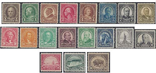 (US Scott 551-569-Mint-Regular Issue 1922-25 Selection 1/2ct Hale to 30ct American Buffalo-SCV)