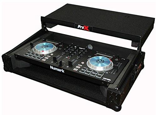 ProX X-MXTPRO3LTBL Black Travel Flight Case For Mixtrack Pro 3 w/ Laptop Shelf by Pro-X