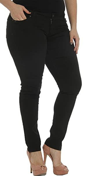 e9b4e1098bc Hey Collection Juniors Plus-Size Brushed Stretch Twill Low Rise ...