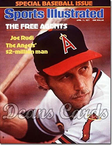 Sports Illustrated - No Label April 11 1977 - Joe Rudi (California) (Baseball Issue) Los Angeles Angels (Magazine/Publication) (No Address Label on Front) Dean's Cards 6 - EX/MT Angels