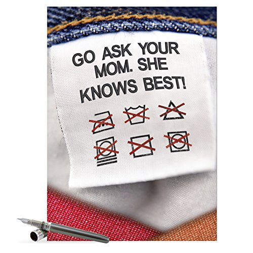 J7318 Jumbo Funny Mother's Day Card: Mother Knows Best With Envelope (Extra Large Version: 8.5'' x 11'')