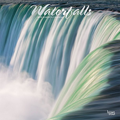 Waterfalls 2019 12 x 12 Inch Monthly Square Wall Calendar with Foil Stamped Cover, Nature Waterfalls (Multilingual Edition)