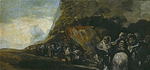 Costume Rendering Definition (The Polyster Canvas Of Oil Painting 'Goya Y Lucientes Francisco De Pilgrimage To The Well Of San Isidro (The Inquisition) 1821 23 ' ,size: 10 X 21 Inch / 25 X 54 Cm ,this High Definition Art Decorative Prints On Canvas Is Fit For Laundry Room Gallery Art And Home Decoration And Gifts)