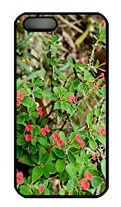 Case For Iphone 4/4S Cover - Customized Unique Design Red Euphorbia New Fashion PC Black Hard