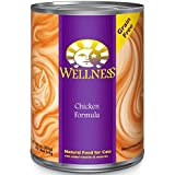 Wellness Complete Health Grain Free Chicken Natural Wet Canned Cat Food, 12.5-Ounce Can (Pack of 12)