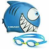 Head Kids Swim Cap and Goggle Set in Blue