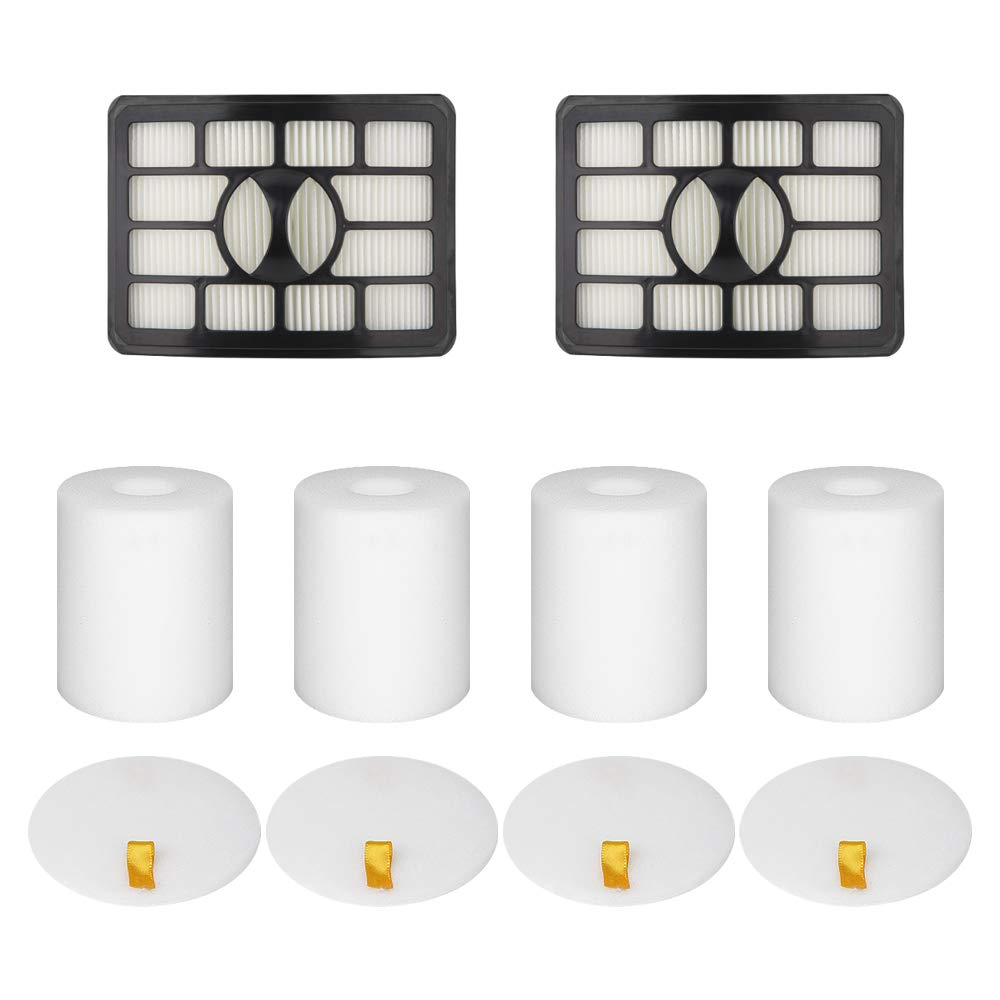 Wolfish 2 + 4 Pack Vacuum Filters Replacement Compatible for Shark Rotator Pro Lift-Away NV500, NV501, NV502, NV503, NV505, NV510, NV520, NV552, UV560,Replace Part Xff500 Xhf500