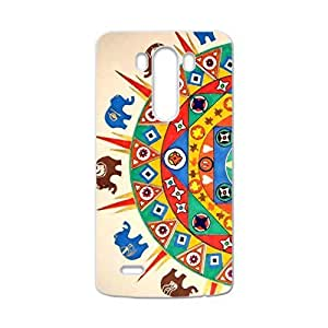 Hoomin Colorful Mandala Elephant Design LG G3 Cell Phone Cases Cover Popular Gifts(Laster Technology)