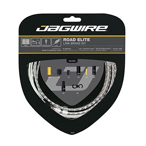 Jagwire Road Elite Link Brake Cable Kit Silver, One Size by Jagwire