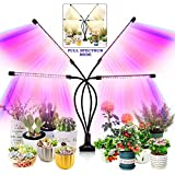 Grow Light for Indoor Plants - Upgraded Version 80 LED Lamps with Full Spectrum & Red Blue Spectrum, 3/9/12H Timer, 10 Dimmab