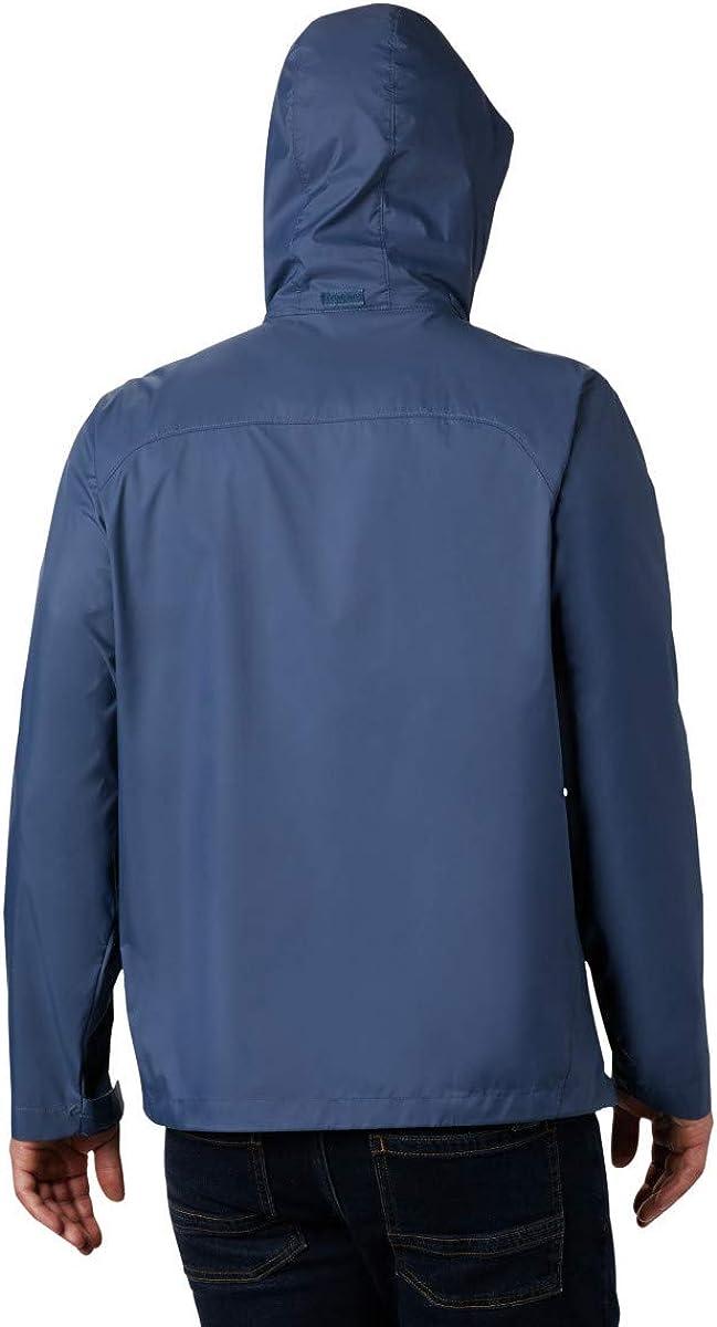 Dark Mountain Columbia Mens Big Glennaker Lake Front-Zip Rain Jacket with Hideaway Hood Large Tall