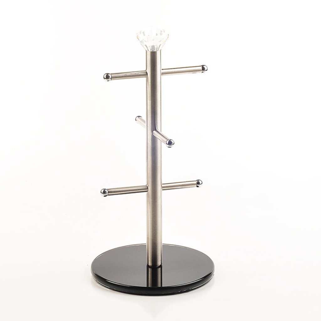 He Xiang Firm Three-tier stainless steel water cup holder home coffee cup holder mug hanging shelf
