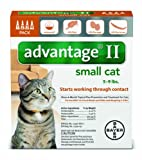 Advantage II Orange Cat Small 4pk