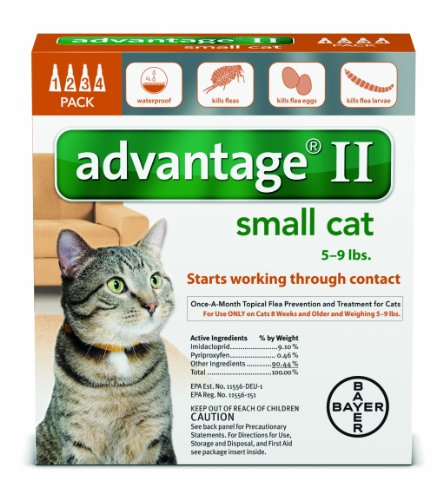 Advantage Once-A-Month Topical Flea Treatment for Cats & Kittens up to 9 Lbs (4 Applications) (Best Over The Counter Flea Treatment)