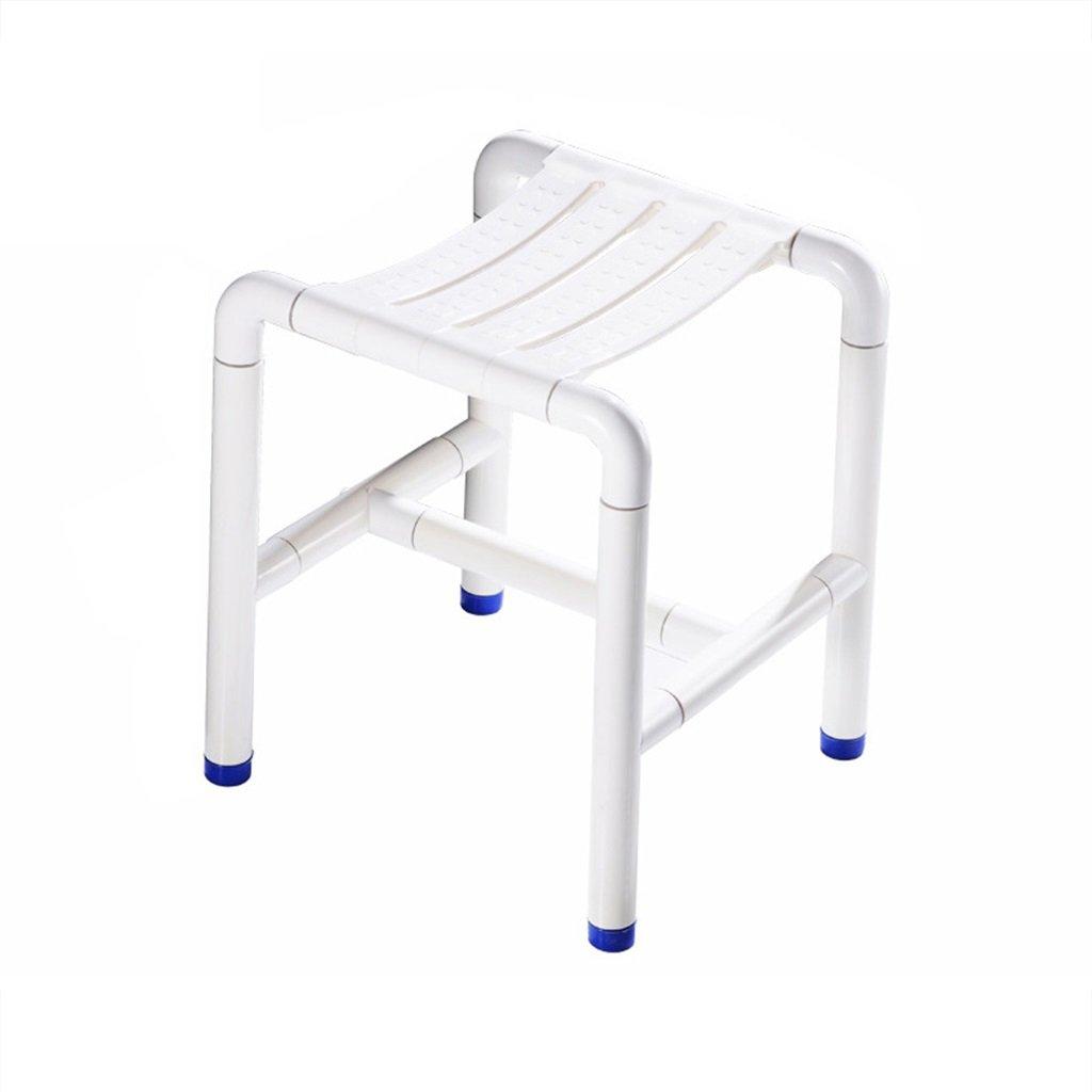 シャワー椅子障害者と高齢者のための白いスツールノンスリップスツールキッチンチェア最大荷重300kg B07F3WM1LQ
