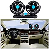 Amazon Price History for:Sminiker Dual Head Car Auto Cooling Air 12V Car Fan 360 Degree Rotation Adjustable Fan- Powerful Quiet 2 Speed Rotatable Dashboard Auto Fan