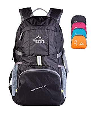 Venture Pal Lightweight Packable Durable Travel Backpack Daypack + Lifetime Warranty