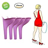 Female urination device silicone funnel women Outdoor Standing up Pee Reusable urinals portable camping travel toilet urine Urinary 4pcs