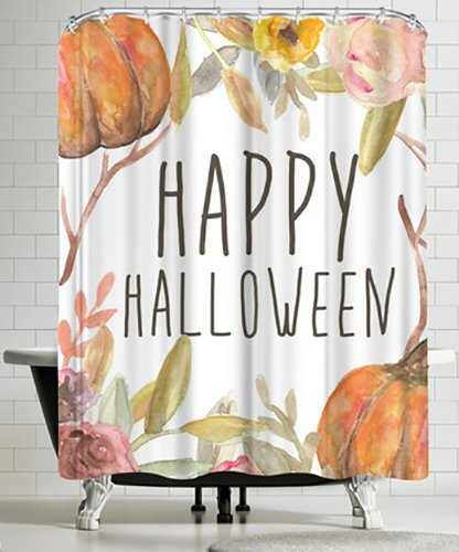 Americanflat Happy Halloween Festive Shower Curtain by Jetty Printables, 74