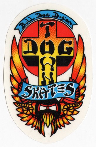 Old School Skates (Dogtown Skateboards Skateboard Sticker - Old School Skateboarding)