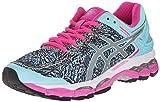 ASICS Women's Gel Kayano 22 Lite Show Running Shoe, Aqua Splash/Silver/Pink Glow, 8 M US
