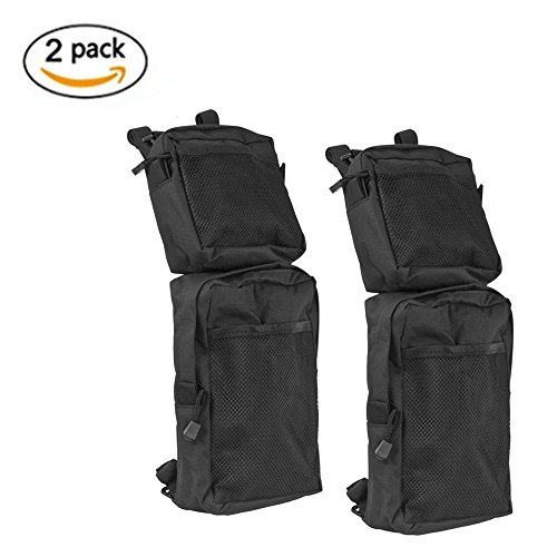 Atv Rear Cargo Bag - COCO ATV Fender Bags 2-Pack ATV Tank Saddle Bags, Cargo Storage Hunting Bags (Black)
