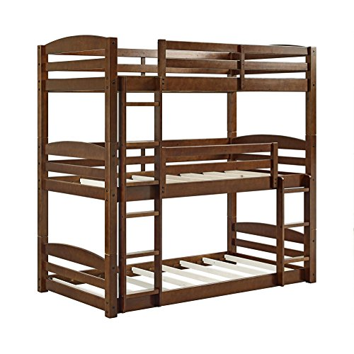 Dorel Living Sierra Triple Bunk Bed, Mocha - Loft Style Bunk Beds