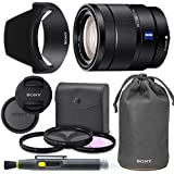 Sony Vario-Tessar T E 16-70mm f/4 ZA OSS Lens with Sony Lens Pouch, UV Filter, Circular Polarizing Filter, Fluorescent Day Filter, Sony Lens Hood, Front & Rear Caps - International Version